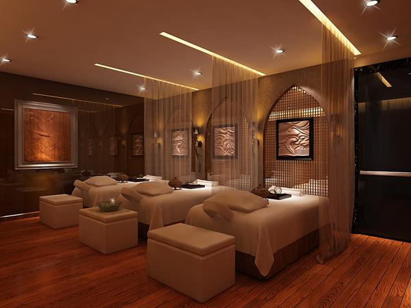接待空间融入欧式风格和现代主义风格,镜面玻璃墙增添了空间感,弧形