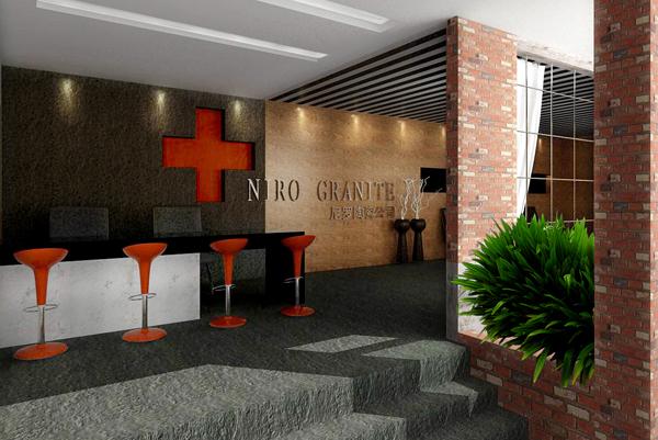陶瓷展厅设计之尼罗格兰办公室门庭——丰品设计