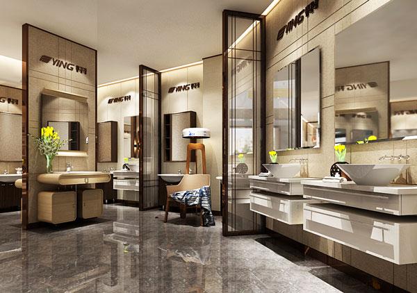 卫浴展厅设计之鹰卫浴意美家店面—丰品设计